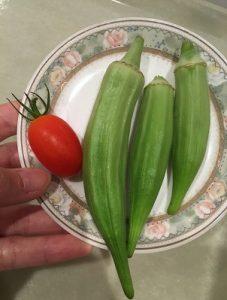 オクラとトマト